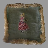 Vintage Needlepoint Pillow Cover with Fringe – Pretty Needle Work
