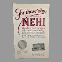 Vintage Nehi Soda Pop Product Premium Booklet – Nehi Beverages Catalog