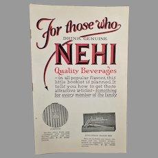 Vintage Nehi Soda Pop Product Premium Booklet – Nehi Beverages Catalog