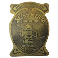 Vintage Seiss Manufacturing Paper Clip with Oil Bicycle Lamp – Exceptional Advertising