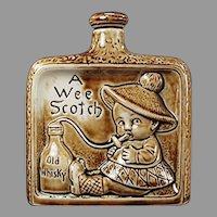 Vintage Schafer and Vater Flask - A Wee Scotch Porcelain S & V Nip