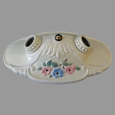 Vintage  1930's Two Bulb, Flush Mount Porcelain Ceiling Light Fixture – Beautiful Condition