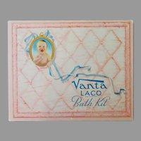 Vintage Vanta Baby Bath Kit Box – Cute Advertising for Baby's Room or Nursery