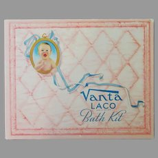 Vintage Vanta Baby Bath Kit Box – Cute Advertising for Baby's Room or Nursery
