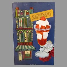 Vintage Oil Bowl Snack Bar Restaurant Advertising Menu featuring Carnation Milk