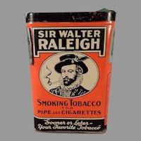Vintage Sir Walter Raleigh Tobacco Tin - Vertical Pocket Tin