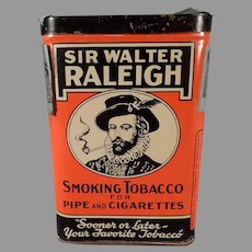 Vintage Sir Walter Raleigh Tobacco Tin - Vertical Pocket Tin