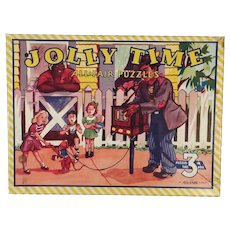 Three Vintage Picture Puzzles – Boxed Set includes 3 Jolly Time All Fair Puzzles