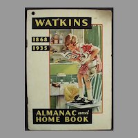 Vintage 1935 Watkins Advertising Almanac - J.R. Watkins Booklet of Useful Information