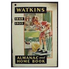 Vintage 1935 Watkins Advertising Almanac - J.R. Watkins Booklet of Useful Information