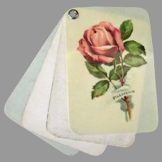 Vintage Celluloid Advertising Notepad with Roses – Palmer's Corset Store