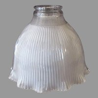 "Vintage Frosted Holophane I-7 Light Fixture Shade for Standard 2 ¼"" Shade Holder"