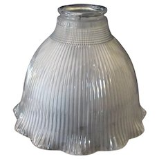 "Vintage I-7 Frosted Holophane Light Fixture Shade for Standard 2 ¼"" Shade Holder"