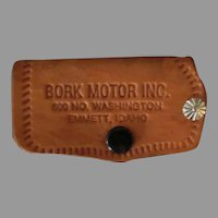 Vintage Leather Car Key Case – GMC Pontiac Automotive Advertising