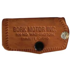 Vintage Leather Car Key Case – GMC Pontiac Automotive Advertising