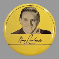 Vintage Phonograph Record Duster – 1940's Guy Lombardo – Old Decca Records Advertising