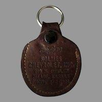 Vintage Chevrolet Advertising Car Key Holder – Holmes Chevrolet Kansas - Leather Case