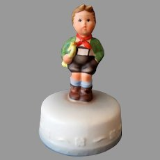 Vintage Hummel Inspired 1984 Schmid Music Box Boy on Cake - Hark the Herald
