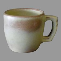 Vintage Frankoma Pottery - Plainsman 5C Cup, Desert Gold, Ada Clay 1950's