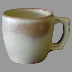 Vintage Frankoma Pottery - Plainsman 5C Cup, Desert Gold, Ada Clay 1950's