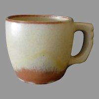 Vintage Frankoma Pottery - Plainsman 5C Cup, Desert Gold, Sapulpa Clay