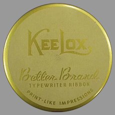 Vintage Kee Lox Gold Better Brands Typewriter Ribbon Tin
