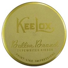Vintage Kee Lox Gold Better Brands Typewriter Ribbon Tin