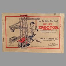 Vintage 1934  A.C. Gilbert Erector Set Manual - How to Make 'Em Diagrams