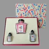 Vintage Cardinal Sachet and Perfume Bottles - Boxed Gift Set
