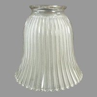 Single Vintage Light Shade - Frosted Glass with Zipper Pattern