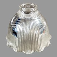 Vintage Holophane Light Fixture Shade - Single I-5 Holophane, Clear Glass
