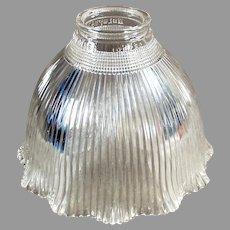 Vintage Holophane Light Fixture Shade - Single I-5 Holophane, Clear Glass