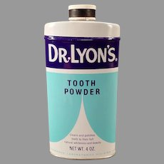 Vintage 1960' Dr. Lyon's Tooth Powder Tin – Dental Advertising Tin
