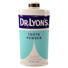 Vintage 1960' Dr. Lyon's Tooth Powder Tin – Dental Advertising Tin