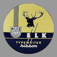 Vintage Typewriter Ribbon Tin - Miller Bryant Pierce Elk Brand