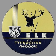 Vintage Typewriter Ribbon Tin - Miller Bryant Pierce Elk Brand
