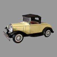 Vintage Friction Japanese Tin Car - Ford Model-A Roadster - Bandai