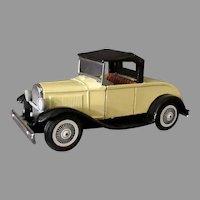 Vintage Friction Japanese Tin Car - Ford Model-A Roadster - Bandai