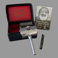 Vintage Ever-Ready Safety Razor with Honing Handle, Blades & Box