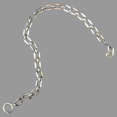 Vintage Charm Bracelet Chain – Silvertone with Nice Links