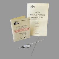 Vintage 1983 Jiffy Tatting 2-Needle Kit – Large Size with Instructions
