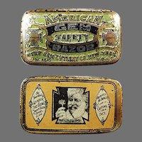 Vintage American Gem, Wedge Razor Blade Tin - Empty Antique Advertising