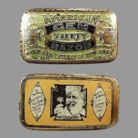 Vintage American Gem, Wedge Razor Blade Tin - Empty Antique Advertising