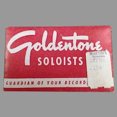 Vintage Goldentone Soloists Steel Phonograph Needles - Original Package of 50