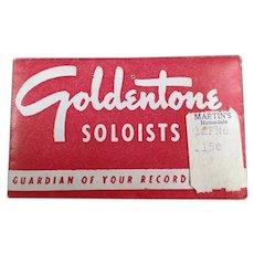 Vintage Goldentone Soloists Steel Phonograph Needles - Original Package of 50
