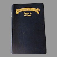 Vintage 1923 Hardbound Poetry Book by Edgar A Guest - The Passing Throng