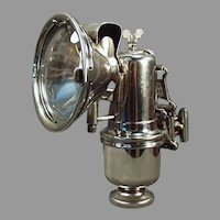 Vintage Riemann Bicycle Lamp with Original Bracket - Antique Carbide Lamp