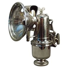 Vintage Riemann Bicycle Lamp with Original Bracket - Antique Carbide Lamp