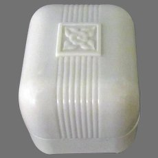 Vintage Bakelite Ring Box – Small, Creamy White with Simple Design
