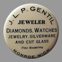 Vintage Celluloid Advertising Tape Measure - Gentil Jewelers of Michigan